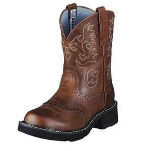 Ariat fatbaby saddle western boot leather size 7